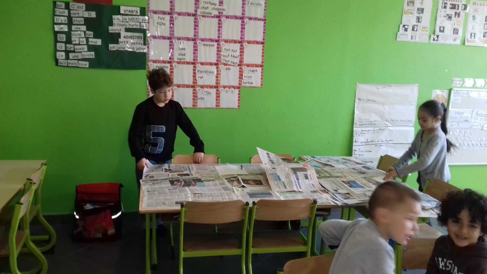 Le journal de l'école : première étape
